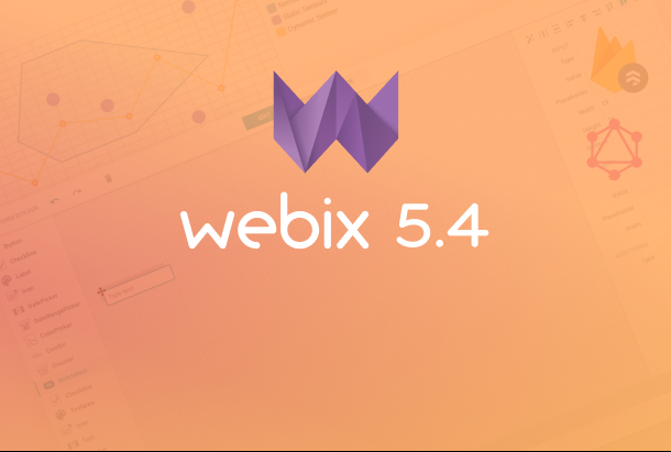Webix 5.4 with GraphQL support, updated SpreadSheet and FormBuilder