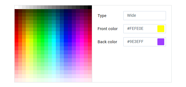 Webix JS ColorPicker and Colorboard